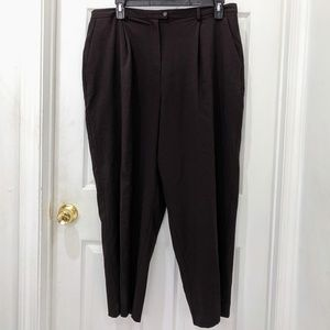 Evan Picone Brown Stretch High-Waisted Trouser 18W